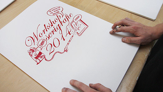 Workshop serigrafie Brno 2014